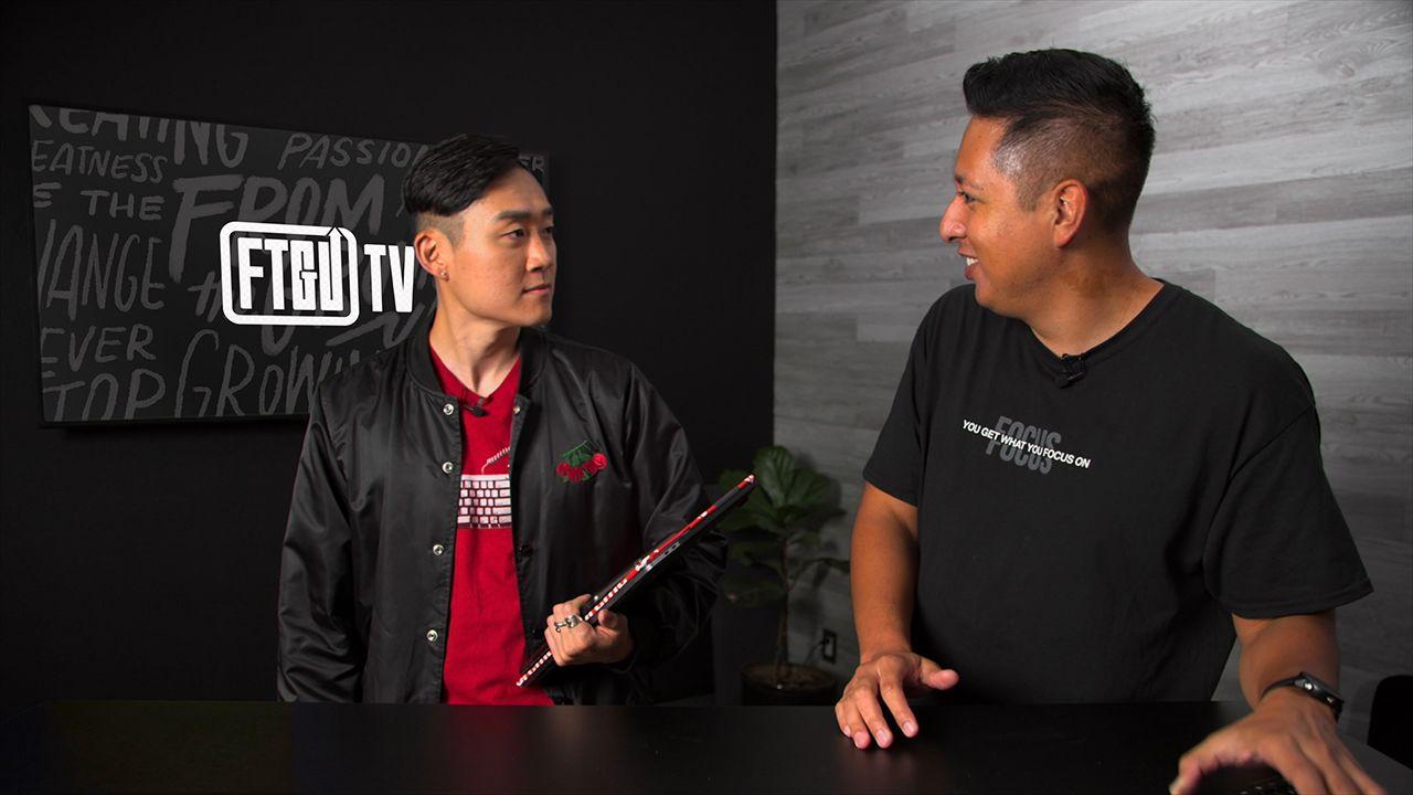 Image of John Santos and Ben Kang In front Of tv