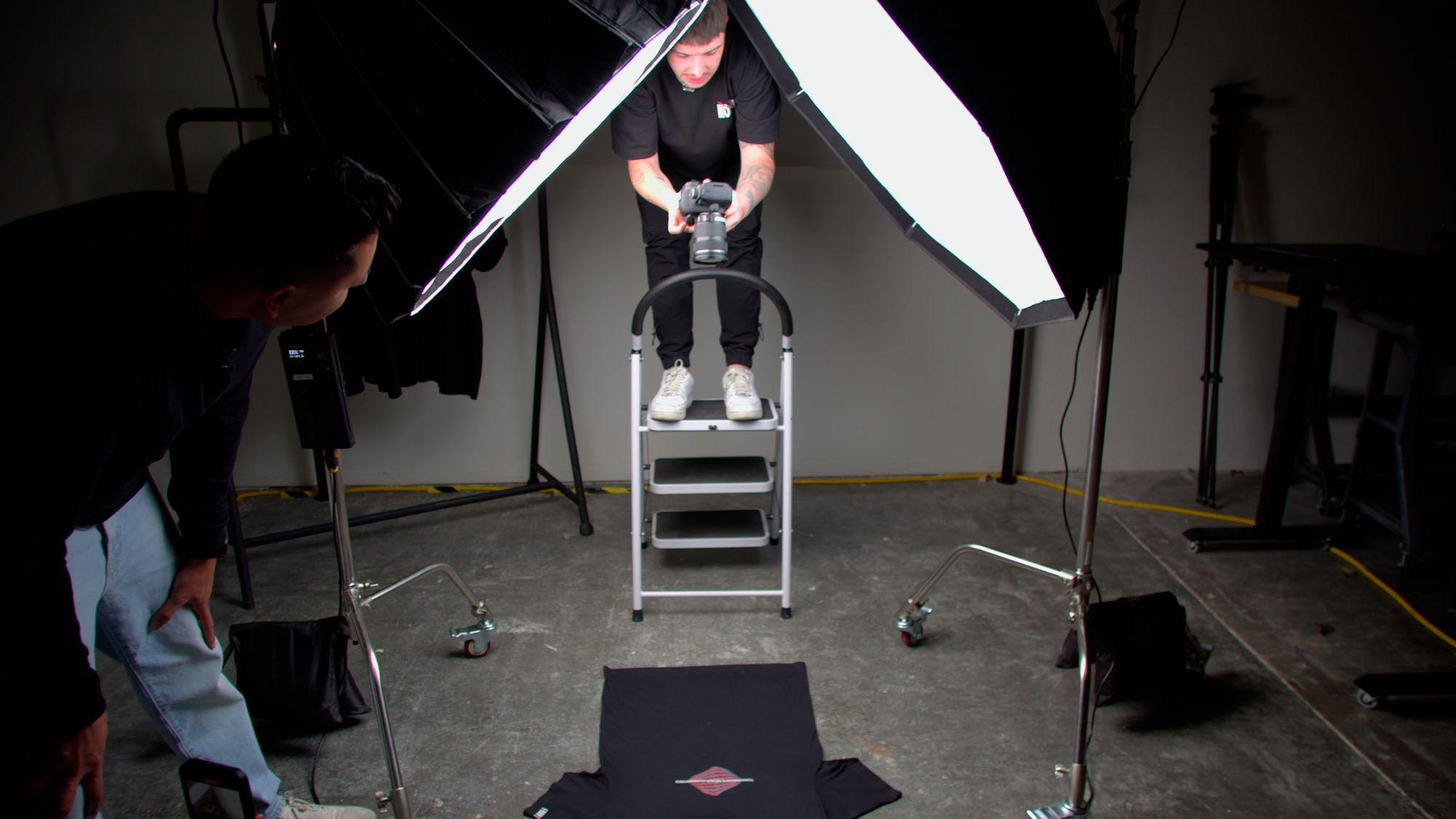Image of John Santos and Ieuan Thomas Shooting Product Photos